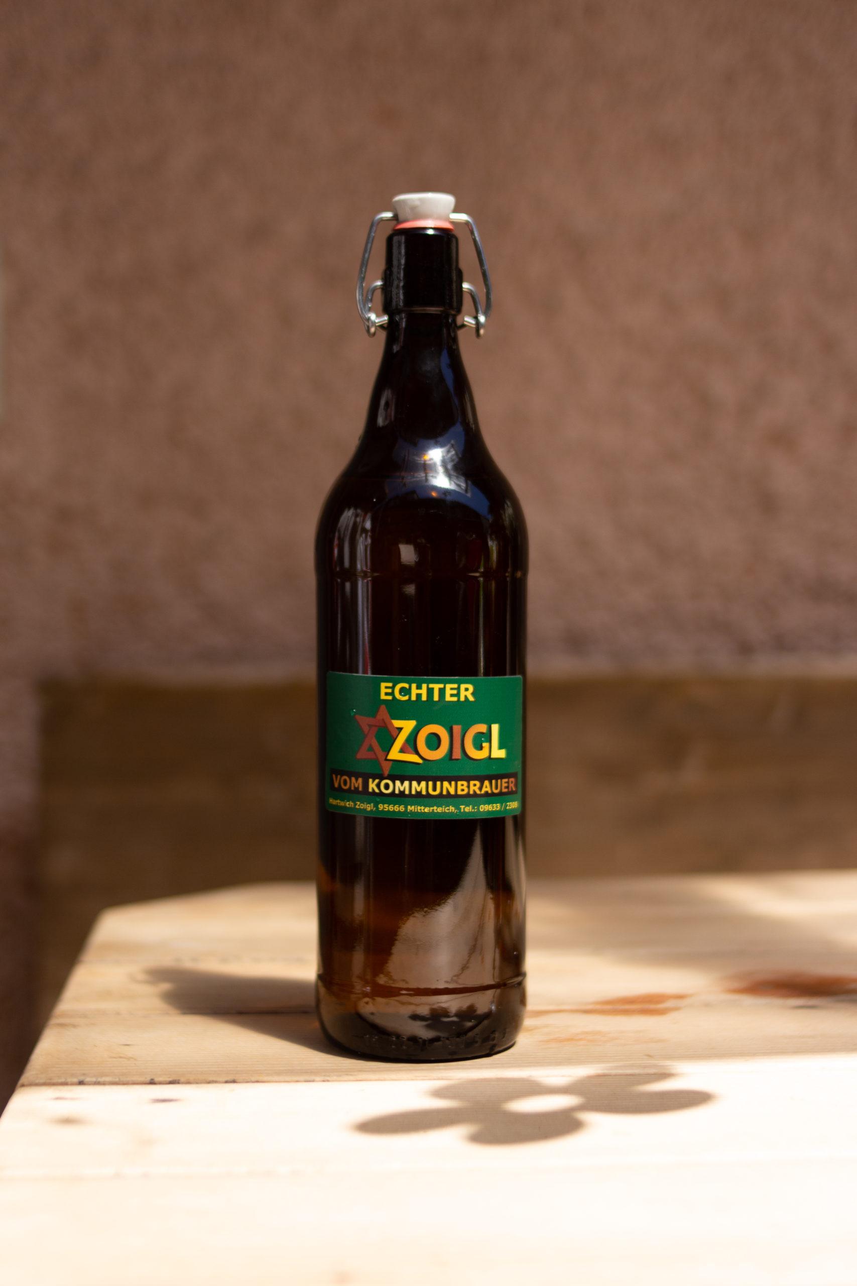 Zoigl Liter Flasche Hartwich Mitterteich Kommunbrauer