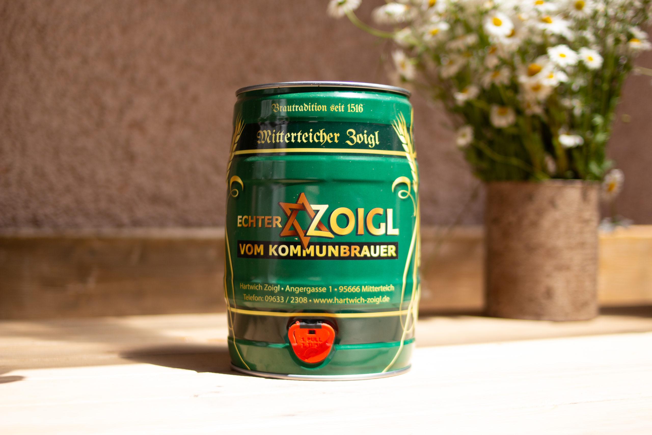 Zoiglfass Partyfass 5 Liter Zoigl Hartwich Mitterteich
